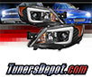 Sonar® Light Bar DRL Projector Headlights (Black) - 08-14 Subaru Impreza (Incl. WRX) (w/ HID Only)