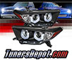 Sonar® Light Bar DRL Projector Headlights (Black) - 11-13 Toyota Highlander