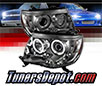 Sonar® LED CCFL Halo Projector Headlights (Smoke) - 05-11 Toyota Tacoma