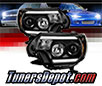 Sonar® Light Bar DRL Projector Headlights (Black) - 12-15 Toyota Tacoma