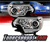 Sonar® Light Bar DRL Projector Headlights (Chrome) -  12-15 Toyota Tacoma