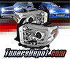 Sonar® Light Bar DRL Projector Headlights (Chrome) -  14-16 Toyota Tundra
