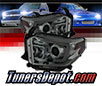 Sonar® Light Bar DRL Projector Headlights (Smoke) - 14-16 Toyota Tundra