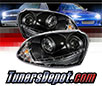 Sonar® DRL LED Projector Headlights (Black) - 06-09 VW Volkswagen Jetta (w/ HID Only)