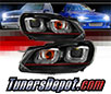 Sonar® Light Bar DRL Projector Headlights (Black) - 10-13 VW Volkswagen Golf GTI