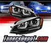 Sonar® Light Bar DRL Projector Headlights (Black) - 15-17 VW Volkswagen Golf