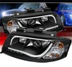 Sonar® Light Bar DRL LED Projector Headlights (Black) - 02-04 Audi A6