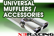 X3 Products® - Universal Mufflers | Accessories