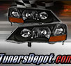 TD® Crystal Headlights (Black) - 02-03 Acura TL 3.2 (with HID Only)