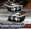 TD® Crystal Headlights (Black) - 02-07 Buick Rendezvous