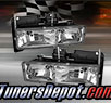 TD® Crystal Headlights (Chrome) - 88-99 Chevy Suburban
