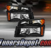 TD® Crystal Headlights + Bumper Lights Set (Black) - 04-12 GMC Canyon