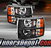 TD® Crystal Headlights (Black) - 07-14 Chevy Silverado 2500HD/3500HD