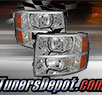 TD® Crystal Headlights (Chrome) - 07-14 Chevy Silverado 2500HD/3500HD