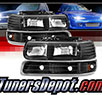 TD® Crystal Headlights + Bumper Lights Set (Black) - 99-02 Chevy Silverado 1500/2500