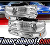 TD® Crystal Headlights + Bumper Lights Set (Chrome) - 00-06 Chevy Tahoe 1500/2500