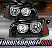 TD® Crystal Headlights + Corner Lights Set (Black) - 05-10 Dodge Charger