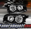 TD® Crystal Headlights (Black) - 06-10 Dodge Charger