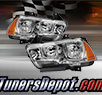 TD® Crystal Headlights (Chrome) - 11-14 Dodge Charger