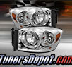 TD® Crystal Headlights (Chrome) - 06-09 Dodge Ram Pickup 2500/3500