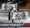 TD® Crystal Headlights + Corner Lights Set (Chrome) - 94-01 Dodge Ram Pickup 1500 (w/o 99-01 Sport Package)