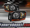 TD® Crystal Headlights (Black) - 06-08 Dodge Ram Pickup 1500 (w/ Amber Bar)