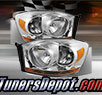 TD® Crystal Headlights (Chrome) - 06-09 Dodge Ram Pickup 2500/3500 (w/ Amber Bar)