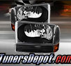 TD® Crystal Headlights + Bumper Lights Set (Black) - 99-04 Ford F-450 F450 Super Duty
