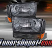 TD® Crystal Headlights + Bumper Lights Set (Smoke) - 99-04 Ford Excursion
