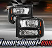 TD® 1pc Harley Style Crystal Headlights (Black) - 00-04 Ford Excursion