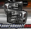 TD® 1pc Harley Style LED Crystal Headlights (Smoke) - 99-04 Ford F-350 F350 Super Duty