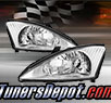 TD® Crystal Headlights (Chrome) - 00-04 Ford Focus