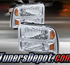 TD® Crystal Headlights (Chrome) - 05-07 Ford F-250 F250 Super Duty