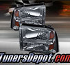 TD® Crystal Headlights (Smoke) - 05-07 Ford F-250 F250 Super Duty
