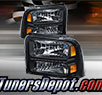 TD® DRL LED Crystal Headlights (Black) - 05-07 Ford F-250 F250 Super Duty