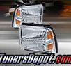 TD® DRL LED Crystal Headlights (Chrome) - 05-07 Ford F-250 F250 Super Duty