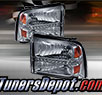 TD® DRL LED Crystal Headlights (Smoke) - 05-07 Ford F-250 F250 Super Duty