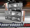 TD® Crystal Headlights + Corner + Bumper Lights Set (Chrome) - 88-93 GMC Pickup Full Size