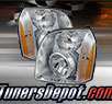 TD® Crystal Headlights (Chrome) - 10-14 GMC Yukon Hybrid Denali
