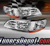 TD® Crystal Headlights (Chrome) - 98-02 Honda Accord
