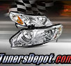 TD® Crystal Headlights (Chrome) - 06-11 Honda Civic 4dr