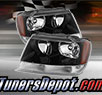 TD® Crystal Headlights (Black) - 99-04 Jeep Grand Cherokee
