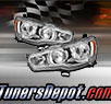 TD® Crystal Headlights (Chrome) - 08-15 Mitsubishi Lancer