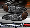 TD® Crystal Headlights (Smoke) - 99-05 Pontiac Grand Am