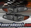 TD® Crystal Headlights + Amber Corner Lights Set (Smoke) - 97-03 Ponitac Grand Prix