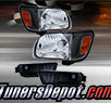 TD® Crystal Headlights + Corner + Side Marker Lights Set (Black) - 01-04 Toyota Tacoma