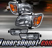 TD® Crystal Headlights + Corner + Side Marker Lights Set (Smoke) - 01-04 Toyota Tacoma