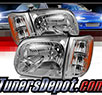 TD® Crystal Headlights + Corner Lights Set (Chrome) - 05-07 Toyota Sequoia