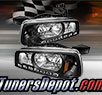TD® 1pc DRL LED Crystal Headlights (Black) - 06-10 Dodge Charger