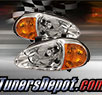 TD® 1pc Amber Crystal Headlights (Chrome) - 93-97 Honda Del Sol